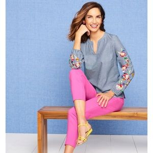 Talbots Embroidered Blouse